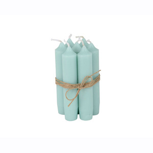 Short Dinner Candle_Mint green1pcs