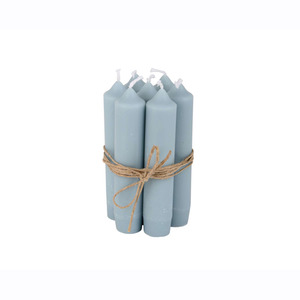 Short Dinner Candle_Light blue1pcs