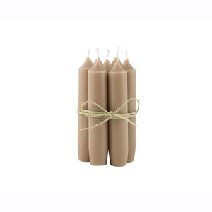 Short Dinner Candle_Milky brown1pcs