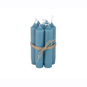 Short Dinner Candle_Blue green1pcs