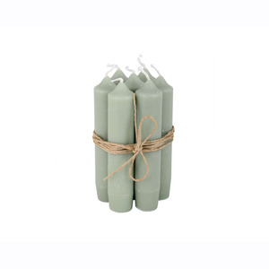 Short Dinner Candle_Dusty green1pcs