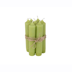 Short Dinner Candle_Green1pcs