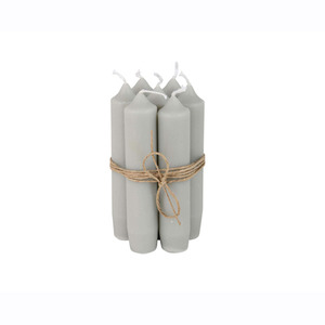 Short Dinner Candle_Light grey1pcs
