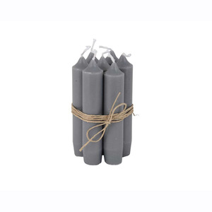 Short Dinner Candle_Dark grey1pcs