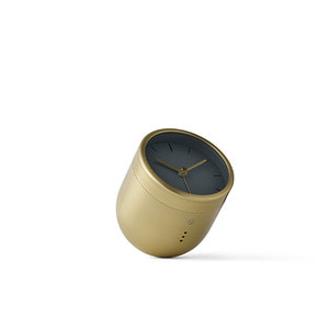 Norm Tumbler Alarm Clock  Brushed Brass