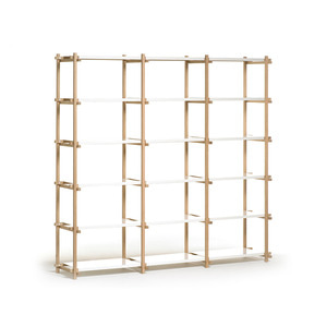 Woody High 3*6 oak/white 18 shelving