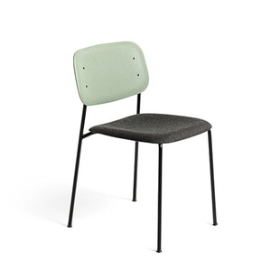 Soft Edge 10 Upholstery Dusty Green Back/Remix#973Seat Black Steel Legs 주문 후 6개월 소요