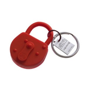 Reality Keychain Lock Red