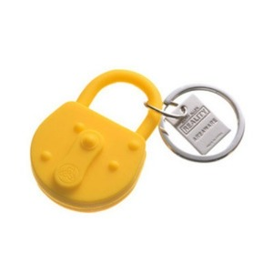 Reality Keychain Lock Yellow